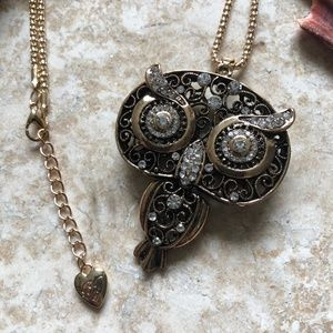 [NWOT] Betsey Johnson Steam Punk Owl Necklace